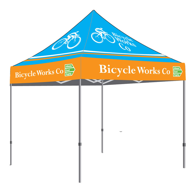 10u2032 x 10u2032 Canopy Tent Aluminum Hex Frame Full Print Roof  sc 1 st  Athletic Event Supply & Custom Tents with Logos | Custom Logos Tents | Custom Canopy Tents