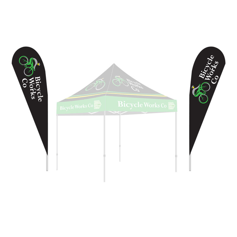 15 Teardrop Flag Kit Double Sided Athletic Event Supply