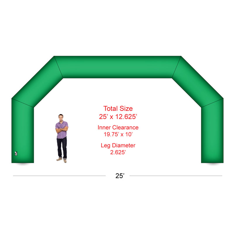 25 Arch Inflatable With Blower Blank Athletic Event