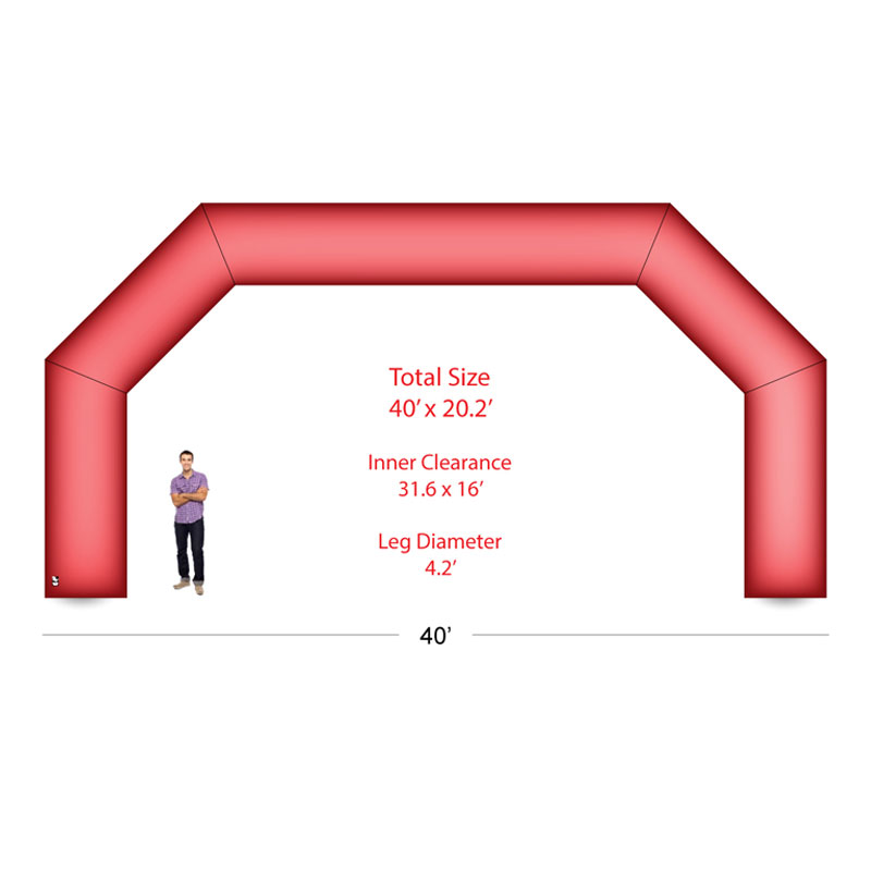 40 Arch Inflatable With Blower Blank Athletic Event