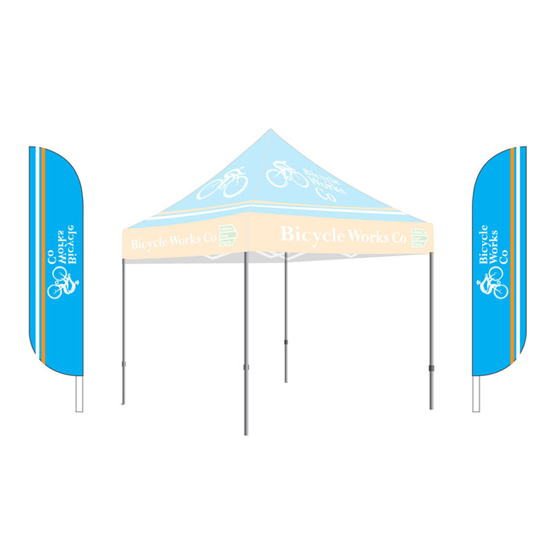 12 Feather Flag Kit Single Sided Athletic Event Supply