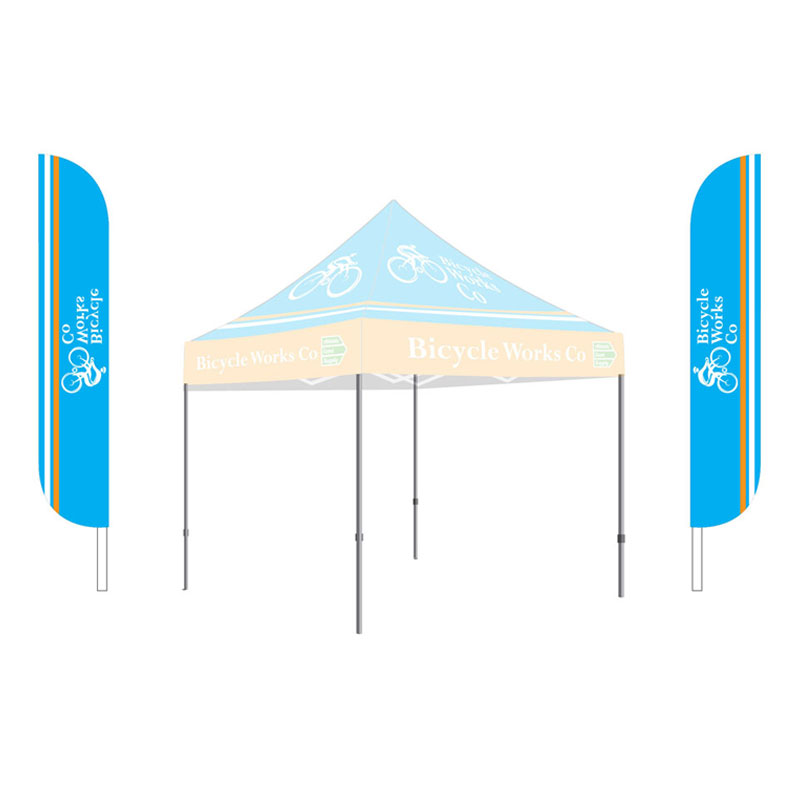 15 39 feather flag kit single sided athletic event supply. Black Bedroom Furniture Sets. Home Design Ideas