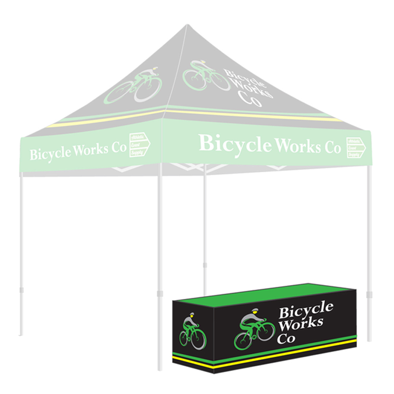 8 Fitted Tablecloth No Slit Athletic Event Supply