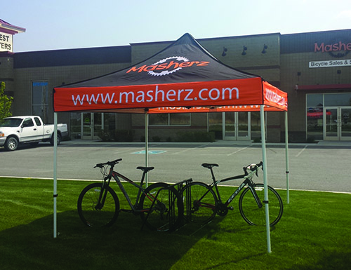 10 39 X 10 39 Canopy Tent Steel Hex Frame Full Print Roof